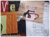 shabby fabrics christmas patchwork appliqué quilting block of the month