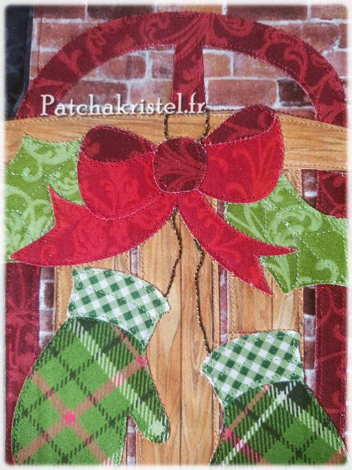 Patchwork de Noël : zoom sur le bloc quilté